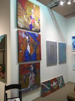 My work at Space 776 Art Hamptons Booth 116