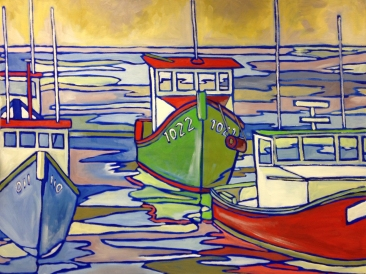 Nova Scotia, Oil on Canvas, 24x36 inch, 2012, 1st place winner of the National Veterans Creative Arts Competition at the Local Level (Long Island)