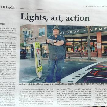 Story on the Designer Crosswalk in Patchogue, NY