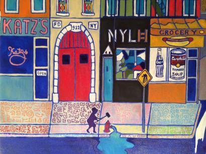 Detail: A New Yorkers Life, Oil on Canvas, 48x60 inch, 2015