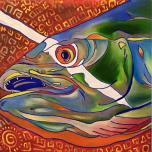 Fish Head #27, oil on canvas, 20x20, 2016