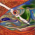 Fish Head #27, oil on canvas, 20x20, 2016