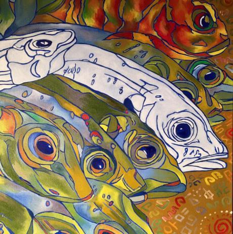 Fish Head #13, oil on canvas, 20x20, 2016