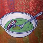 Koi Tang, oil on canvas, 20x20, 2016