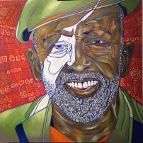 Portrait of Garrett Morris, Oil on canvas, 30x30, 2016