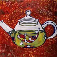 Koi Cha, oil on canvas, 20x20, 2016