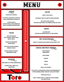 toro menu